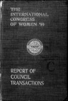 Report of Transactions of the Second Quinquennial Meeting held in London, July 1899, with an introduction by Countess of Aberdeen, Retiring President