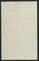 Letter from Samuel Winter Cooke to My dear Uncle Trevor, August 21, 1884