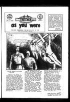 As You Were, As You Were, Vol. 1 no. 5, July 1969