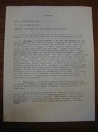 Memorandum, Subject: Pass Book for the Communication Project