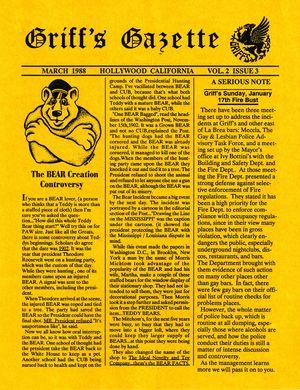 Griff's Gazette, Volume 2, Issue 3, March 1988