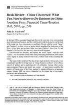 Book Review - China Uncovered: What You Need to Know to Do Business in China