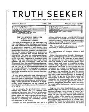 Truth Seeker, Vol. 94 no. 4, April 1967