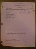 Yale University Memorandum of Gift, July 31, 1961