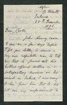 Letter from J. S. Winter to Samuel Winter Cooke, December 28, 1896