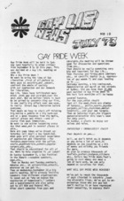 Gay Lib News no. 10, July 1973