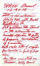 Handwritten Minutes of SPREE Board Meeting, December 30, 1975