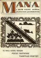 MANA: a SOUTH PACIFIC JOURNAL of LANGUAGE and LITERATURE, Vol. 7, No. 1