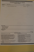 Clinton Library Withdrawal/Redaction Sheet from Clinton Presidential Records, NSC Records Management, ([Steinberg & Rwanda]), Box 211, Folder [9407024]