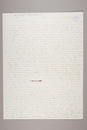 Letter from Sarah Pugh to Elizabeth Pease Nichol, November 16, 1840