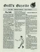 Griff's Gazette, Volume 2, Issue 6, June 1988