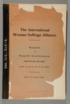 HISTORY OF THE INTERNATIONAL WOMAN SUFFRAGE ALLIANCE