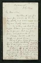 Letter from Theophilus Taylor to Rev J.J. Waugh, July 16, 1858