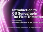 Introduction to OB Sonography: The First Trimester