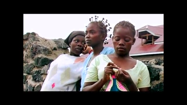 3 Congolese interviewees standing together outside